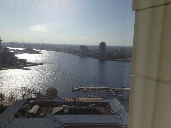 Norfolk Waterside Marriott: Wonderful view of the harbor from the 23rd floor