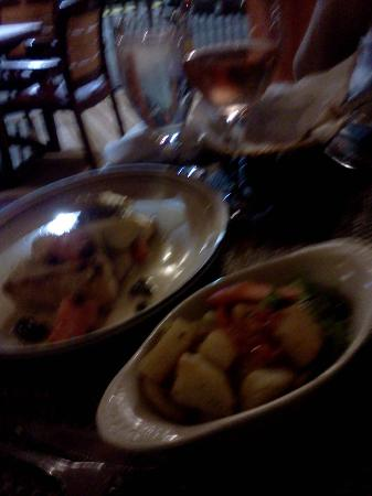 Cesare's At The Beach : The Chilean Sea Bass and fresh veggies