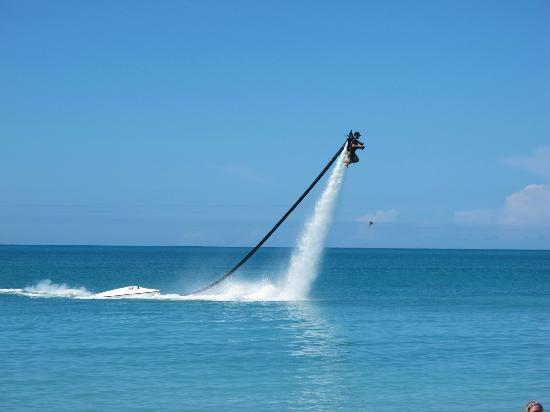 The Villas at Sunset Lane: Jet Powered water lift at Dickinson Bay Beach