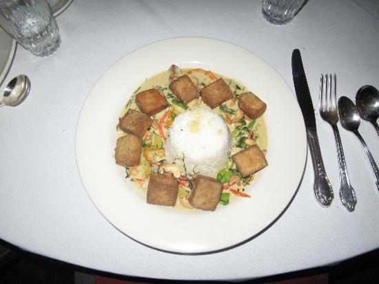 Alta's Rustler Lodge : Curried Tofu with Basmati Rice