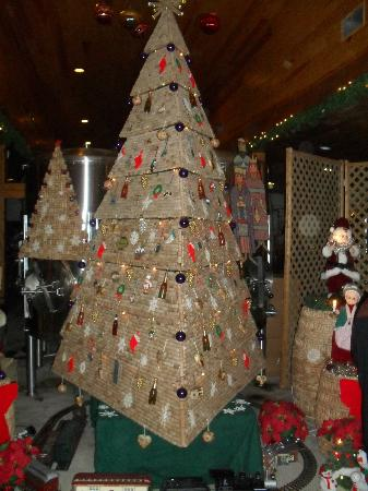 Amissville, Virginie : Christmas tree cork display