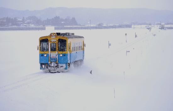 Yurikougen Railways: 豪雪地帯を走る列車。暖かい車内より雪景色をお楽しみいただけます。