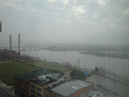 Park Inn Toledo: The view from our hotel room on a foggy morning.