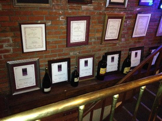 Ambrosia Restaurant & Bar: Wine awards