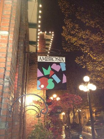 Ambrosia Restaurant & Bar: sign outside