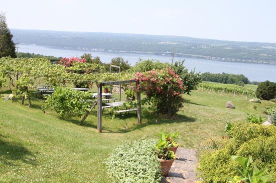 Chateau Lafayette Reneau: The garden seating