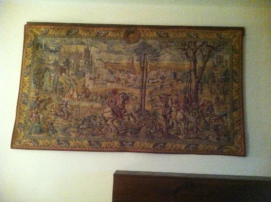 Wedmore Place: Tapestry on the wall