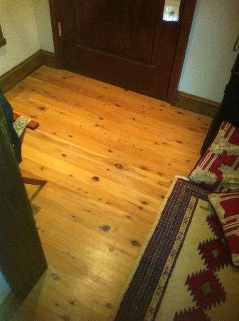 Wedmore Place: Interesting wood floor