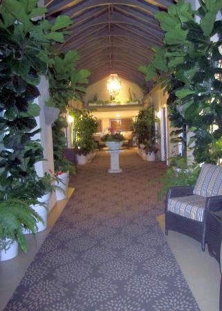 Hotel Vista Del Mar: The atrium / hallway outside your room