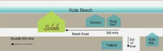 Solah Beach Bar and Restaurant : Where to find Solah