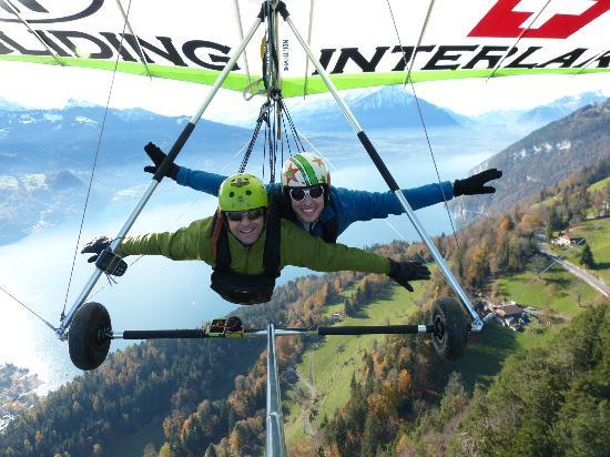 Hang Gliding Interlaken : Voando