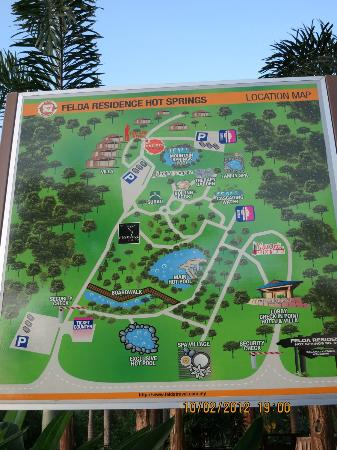 Felda Residence Hot Springs: map of whole resort