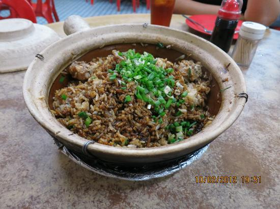 Felda Residence Hot Springs: claypot rice, tastes not bad