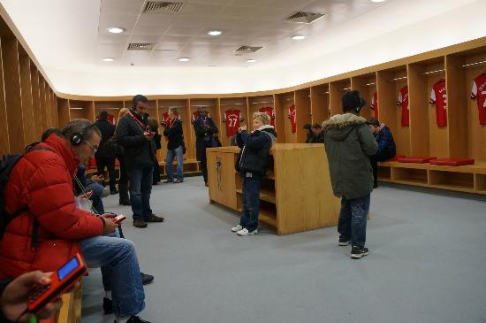 Arsenal Stadium Tours Museum Players Changing Room