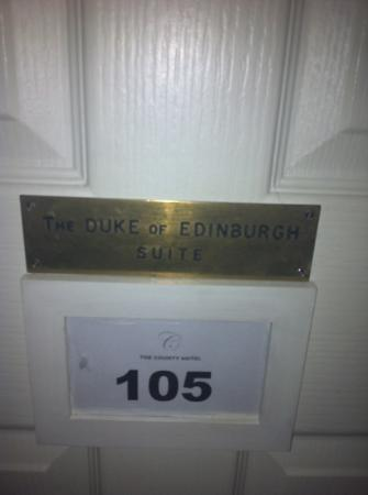 The County Hotel: duke of Edinburgh suite