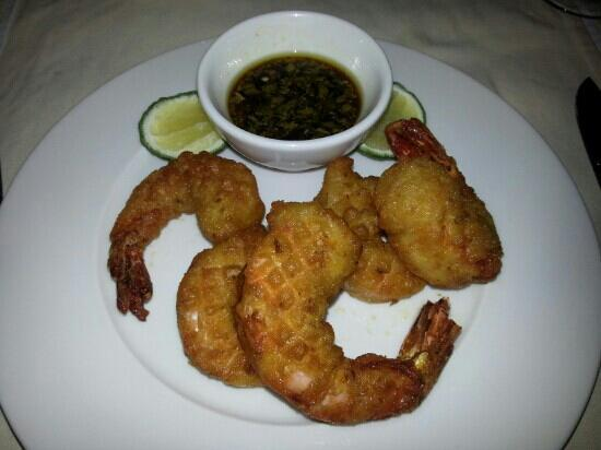 Swahili Beach Resort: tempura crevettes