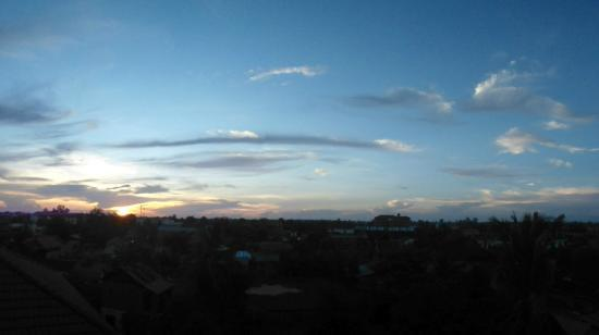 The Cashew Nut Villa.: sunset view from the roof deck