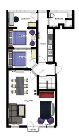Frankendael Apartments: Floorplanner 6 person apartment