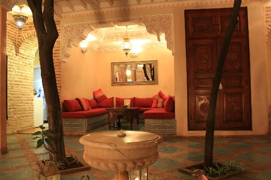 Riad Louaya: the lounge area in the patio