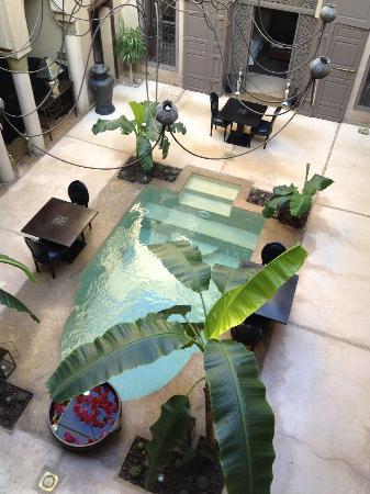 Riad Noir d'Ivoire: Innenhof