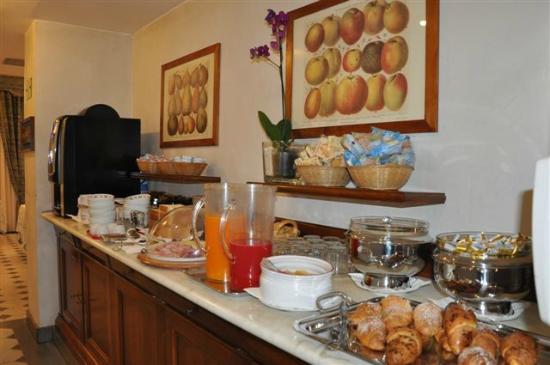 هوتل مالاسبينا: la colazione del mattino (abbondante e buonissima)