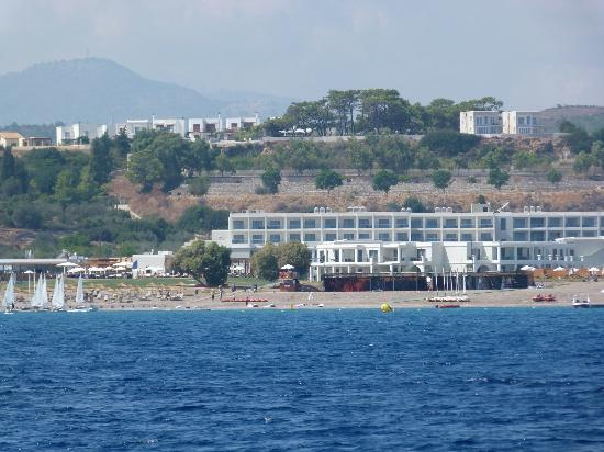 Levante Beach Resort: View from out at sea