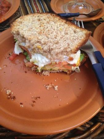 El Condor & The Eagle Cafe: delicious vegetarian sandwich