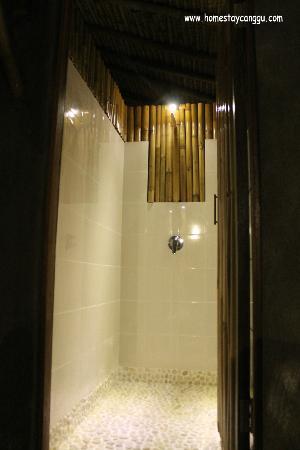 eHomestay Wood Hut Canggu : hot shower