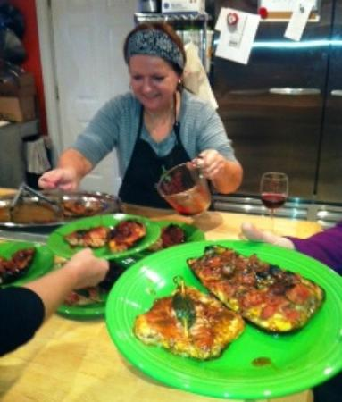 Mrs. McGarrigle's Fine Food Shop: One of our guest chefsin a cookig class, Paola Scatozza