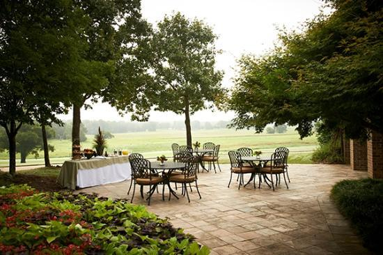Pursell Farms: Outdoor patio area near the Conference Center lower level equipped with joining kitchen