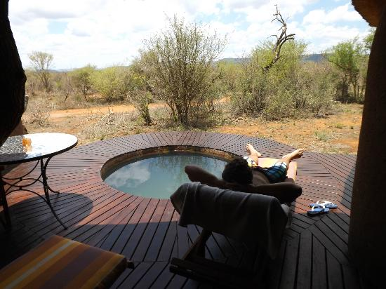 ‪‪Madikwe Safari Lodge‬: Private plunge pool‬
