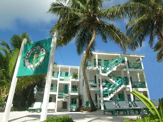 Seven Seas Resort: View from the Caribbrean Sea