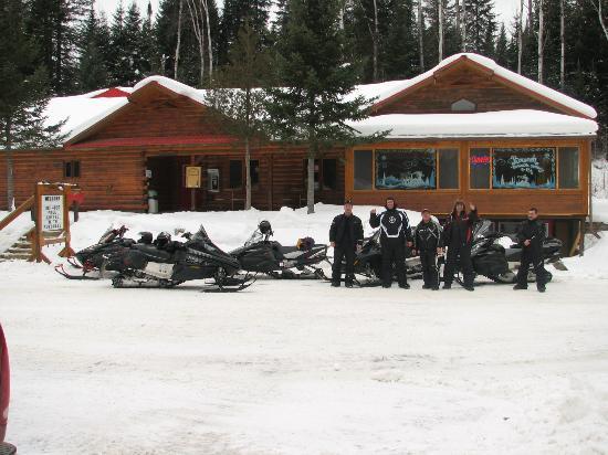 Chalets Restigouche: On NB snowmobile trail # 17