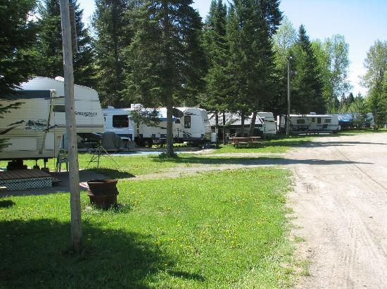 Chalets Restigouche: Camping lots