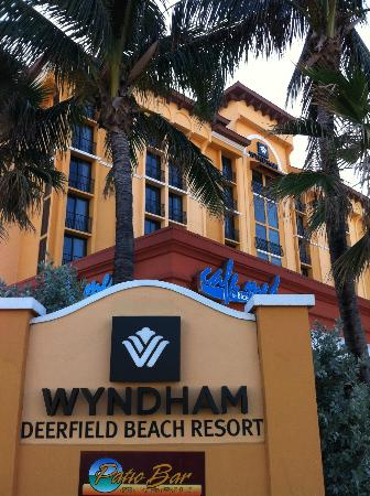 Wyndham Deerfield Beach Resort: Back of hotel