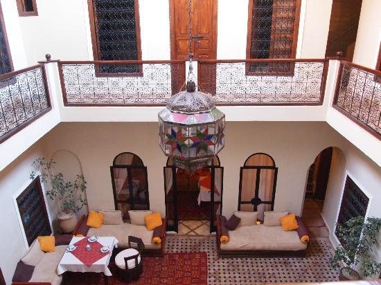 Riad Marana: patio centrale