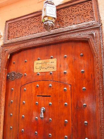 Riad Marana: portone d'ingresso