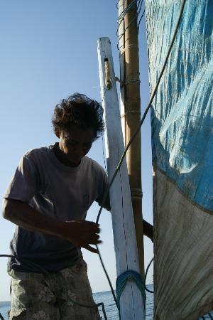 Geria Giri Shanti Bungalows: sailing with wajung 