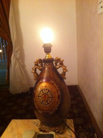 Le Meridien Al Hada: nice lamp shade