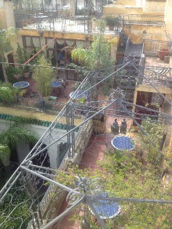 Riad Louna: Vue sur la terrase