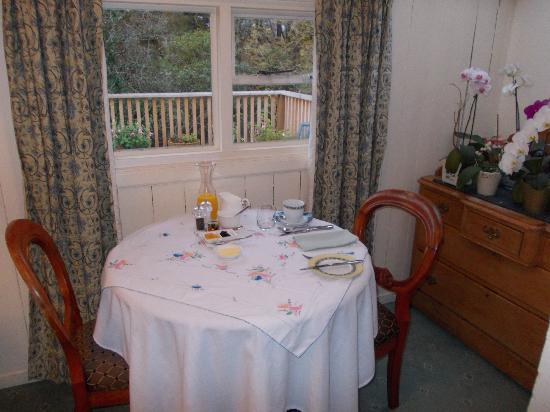 Ghillies Lodge: Breakfast with a view