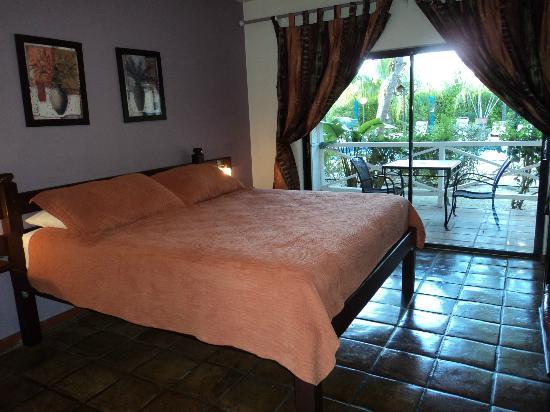 Caribbean Paradise Inn : Veranda and poolside views