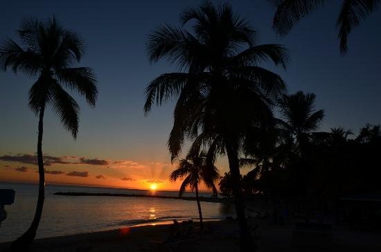 Windjammer Landing Villa Beach Resort: Evening sunset on the beach