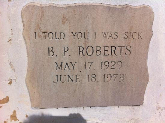 Key West Cemetery: I Told You I Was Sick