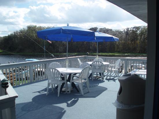 Hontoon Landing Resort & Marina: Our patio with a view.
