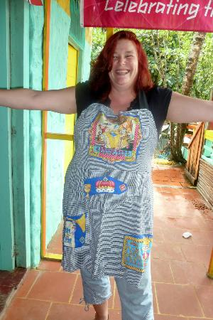 The Boat House Restaurant: Sharon, with her new apron