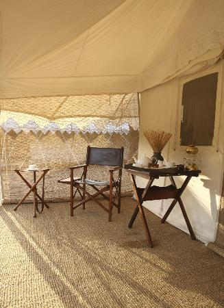 Sher Bagh: Relax on the deck of your tent