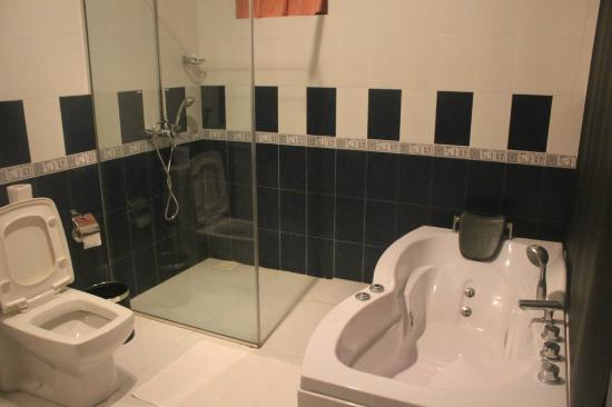Hotel Marina Bentota: Shower stall and jacuzzi
