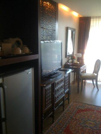 Sheik Istana Hotel: TV and Desk
