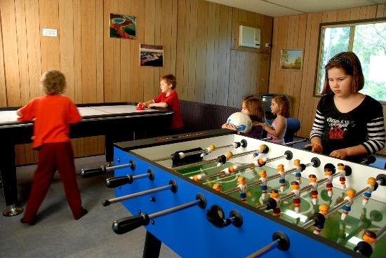 Diamond Forest Farm Stay: Games room is a real hit with the kids